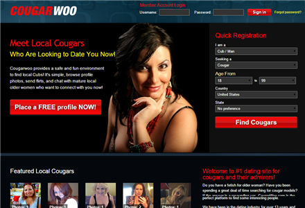 Website to find cougars